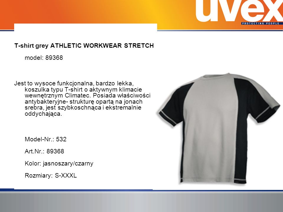 T-shirt grey ATHLETIC WORKWEAR STRETCH model: 89368