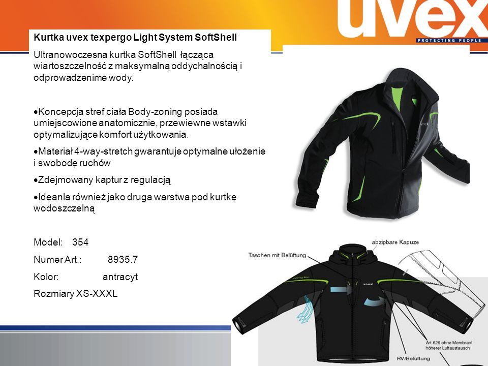 Kurtka uvex texpergo Light System SoftShell