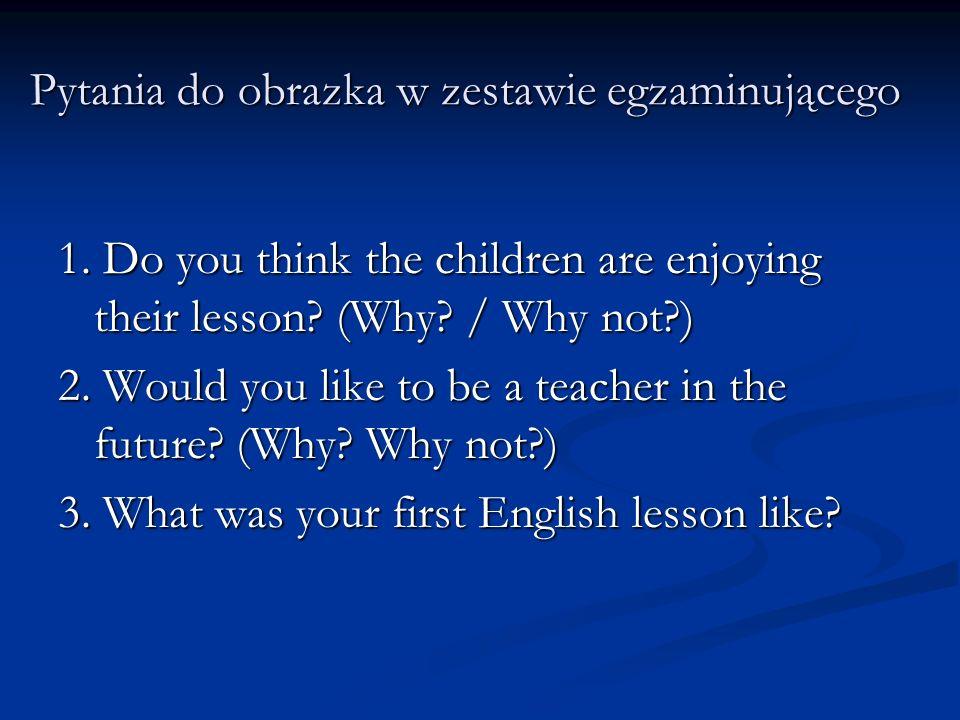 Pytania do obrazka w zestawie egzaminującego