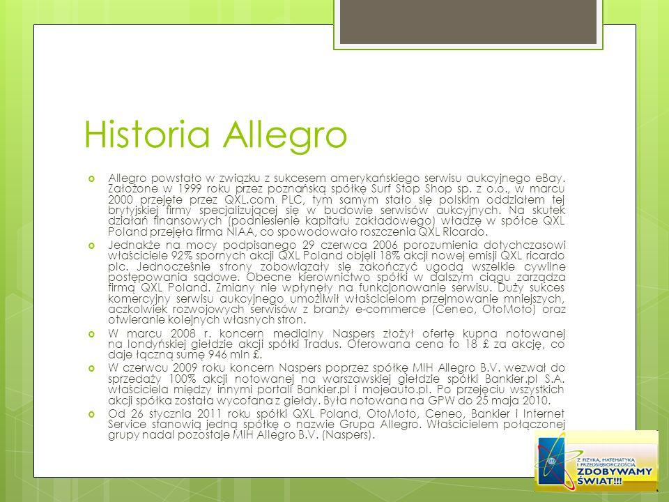 Historia Allegro