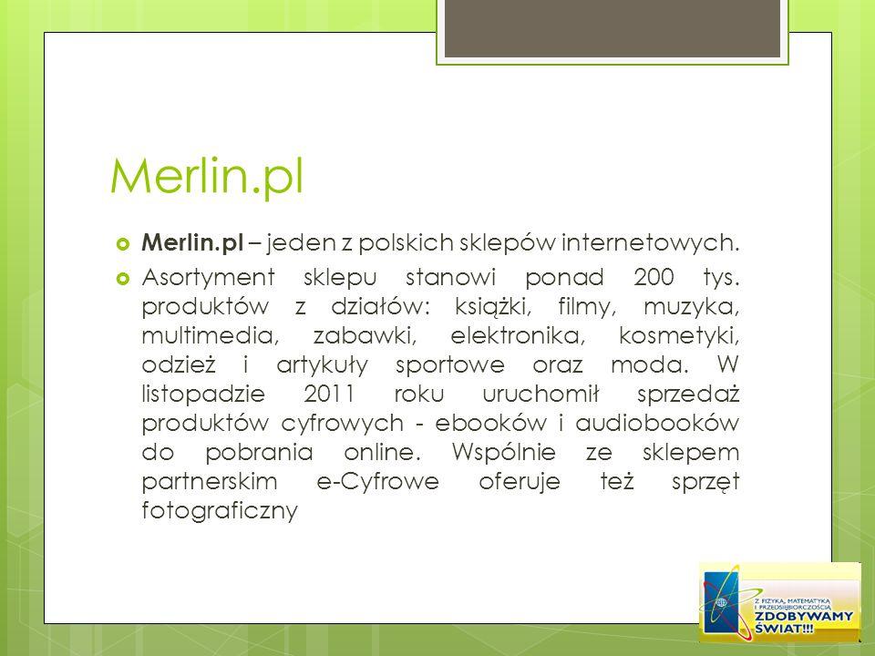 Merlin.pl Merlin.pl – jeden z polskich sklepów internetowych.