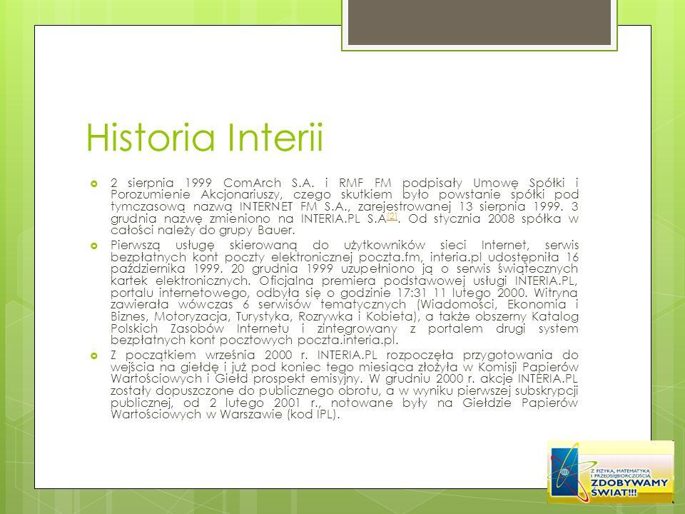 Historia Interii