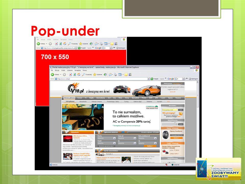 Pop-under