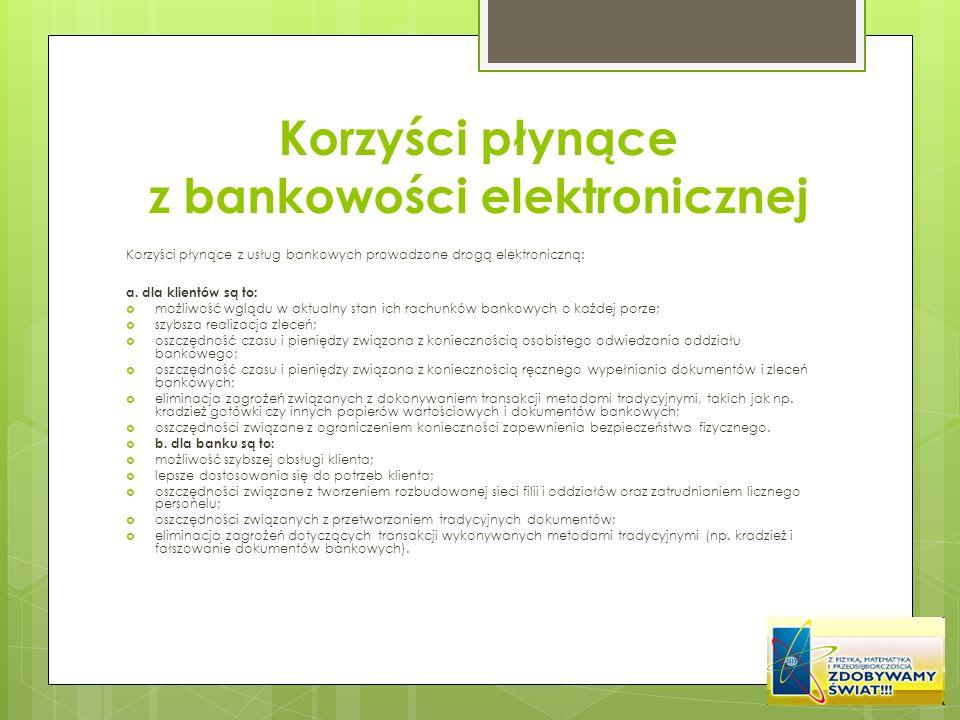 Korzyści płynące z bankowości elektronicznej
