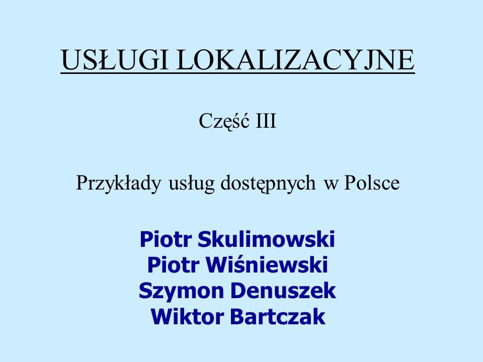 Przykłady usług dostępnych w Polsce