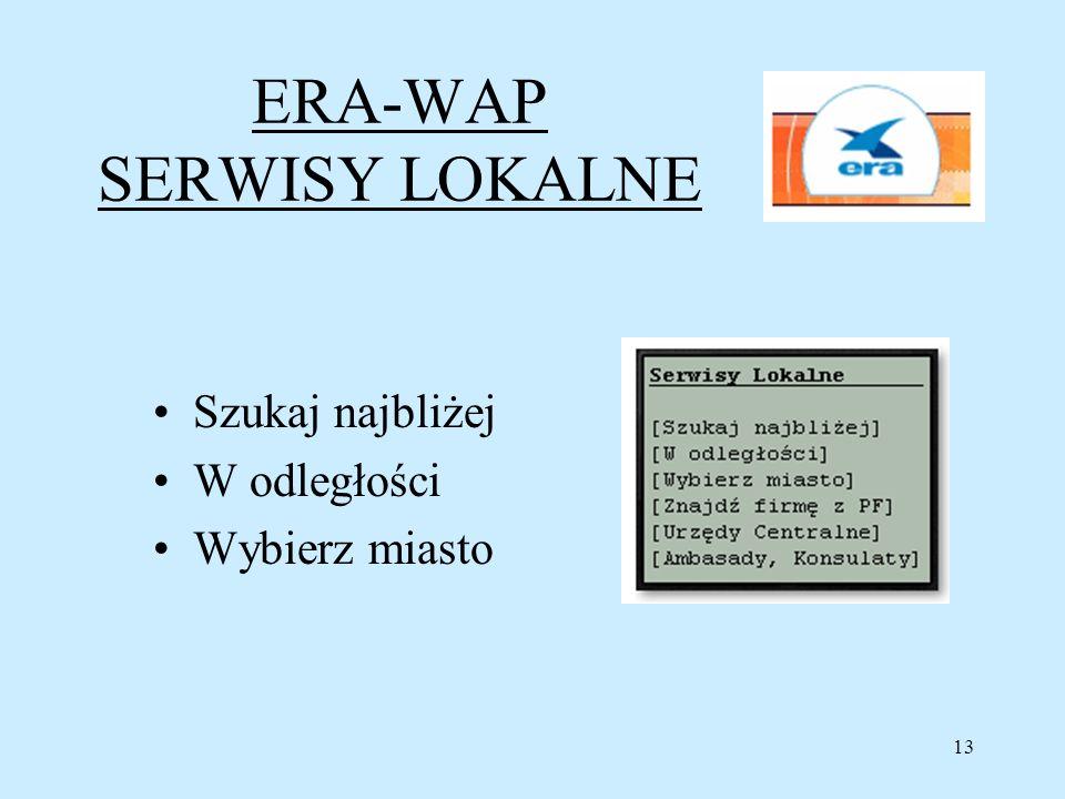 ERA-WAP SERWISY LOKALNE