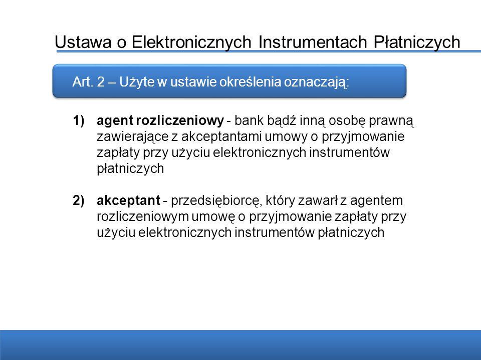 Ustawa o Elektronicznych Instrumentach Płatniczych