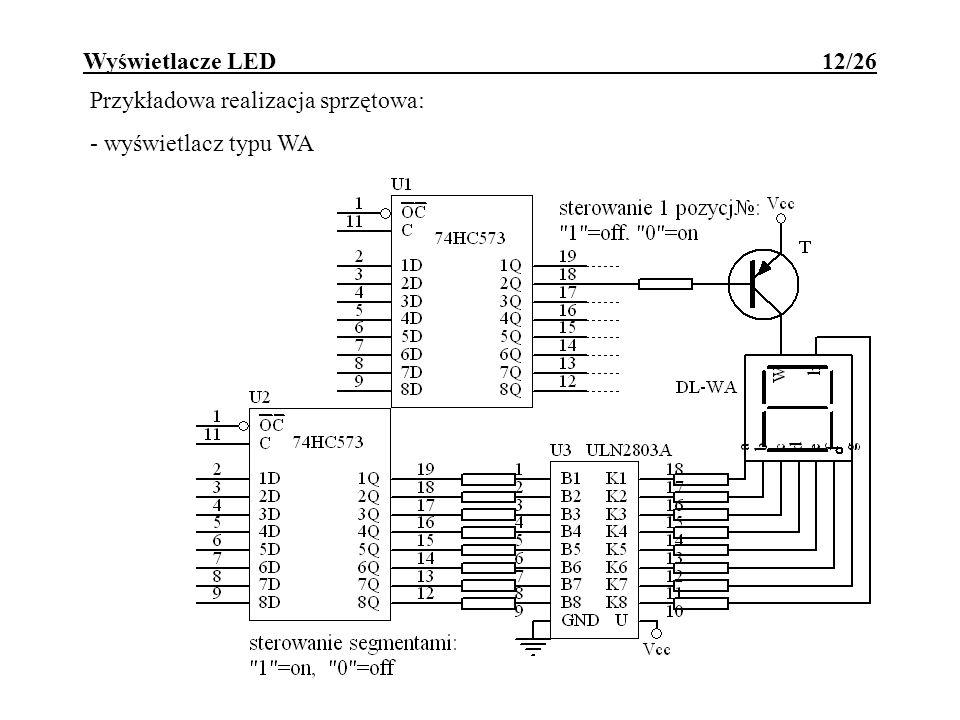 Wyświetlacze LED 12/26