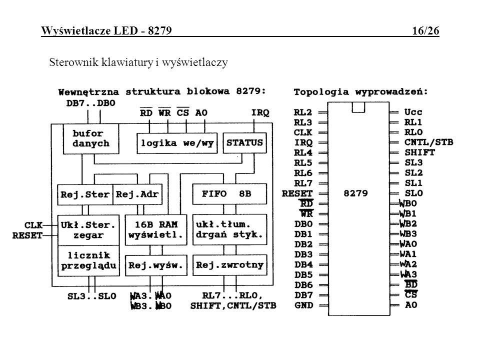 Wyświetlacze LED - 8279 16/26