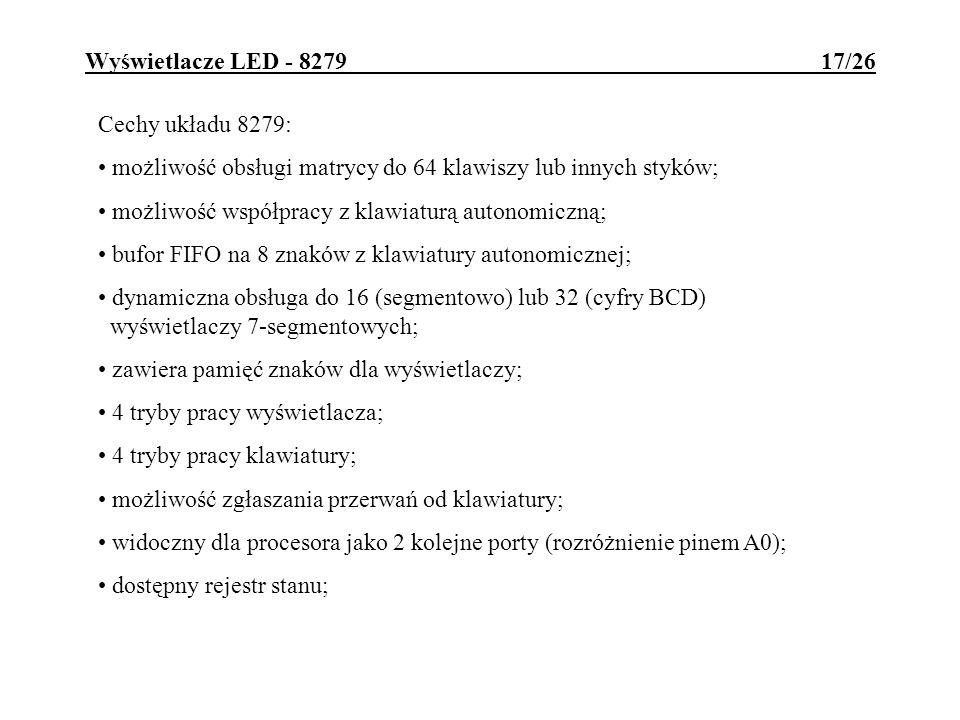 Wyświetlacze LED - 8279 17/26