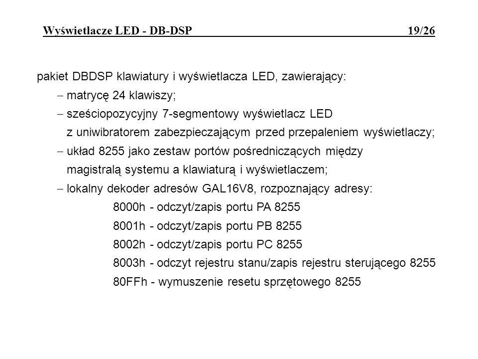 Wyświetlacze LED - DB-DSP 19/26