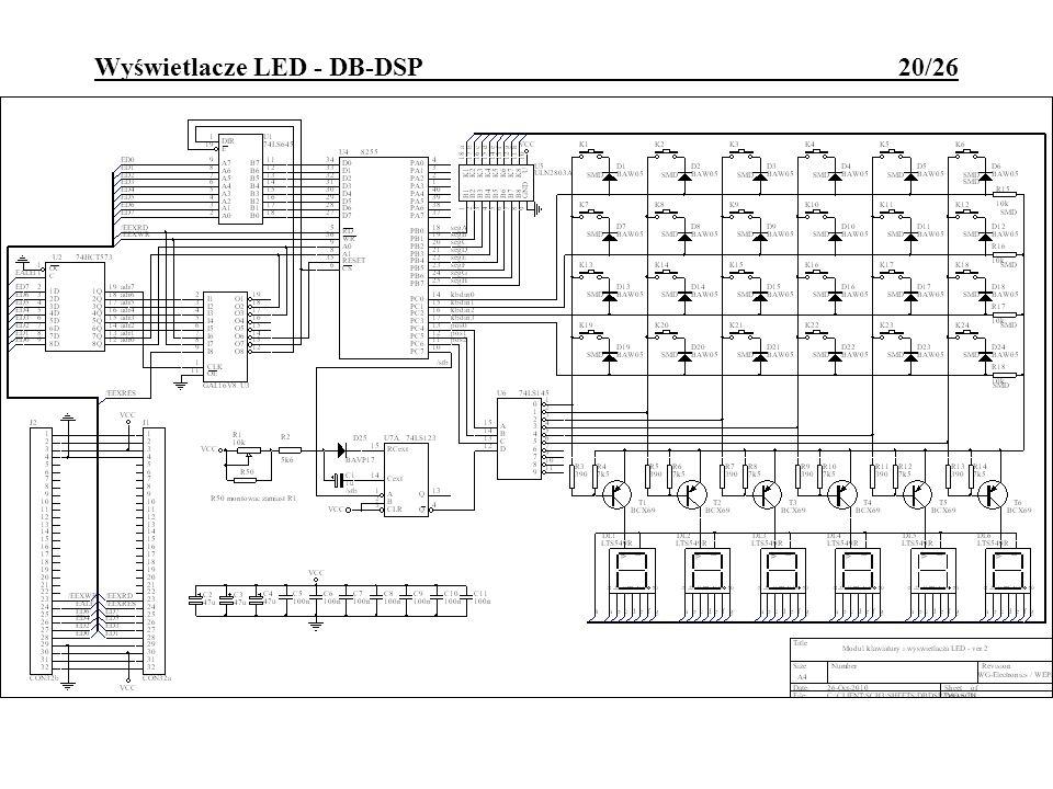Wyświetlacze LED - DB-DSP 20/26