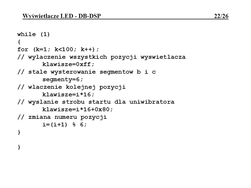 Wyświetlacze LED - DB-DSP 22/26