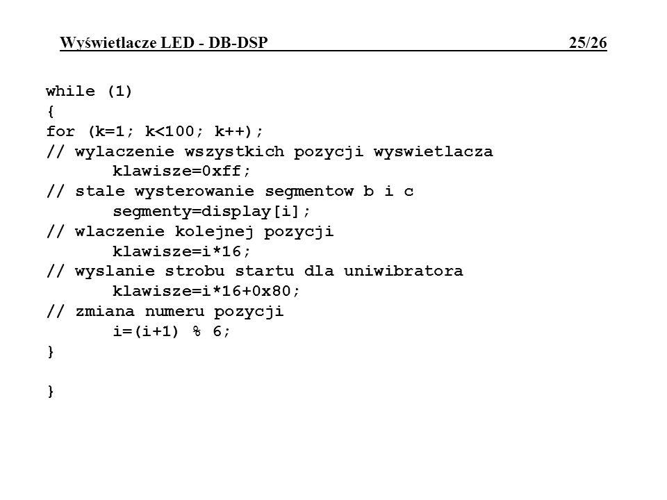 Wyświetlacze LED - DB-DSP 25/26