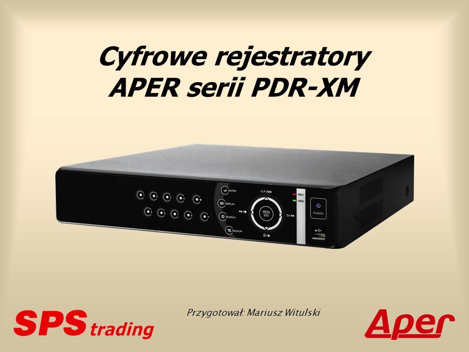 Cyfrowe rejestratory APER serii PDR-XM