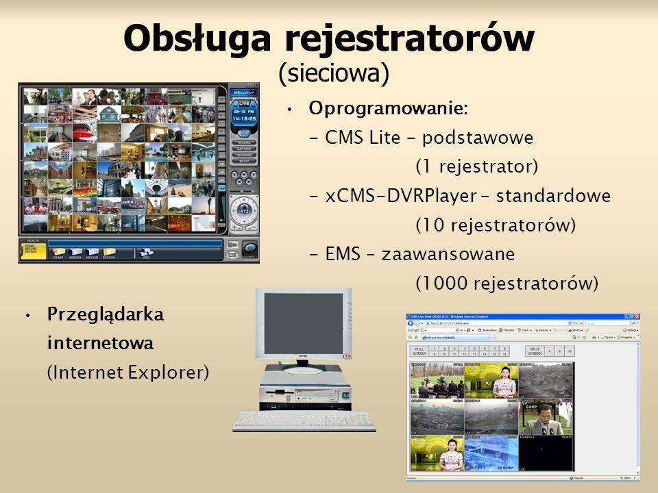 Obsługa rejestratorów (sieciowa)