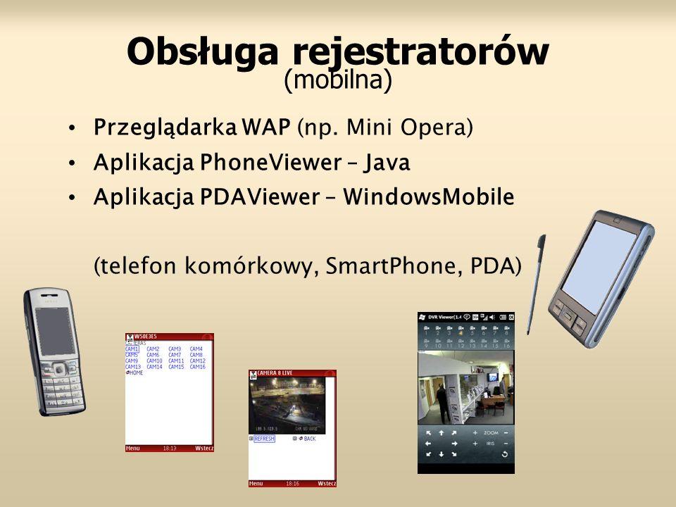 Obsługa rejestratorów (mobilna)