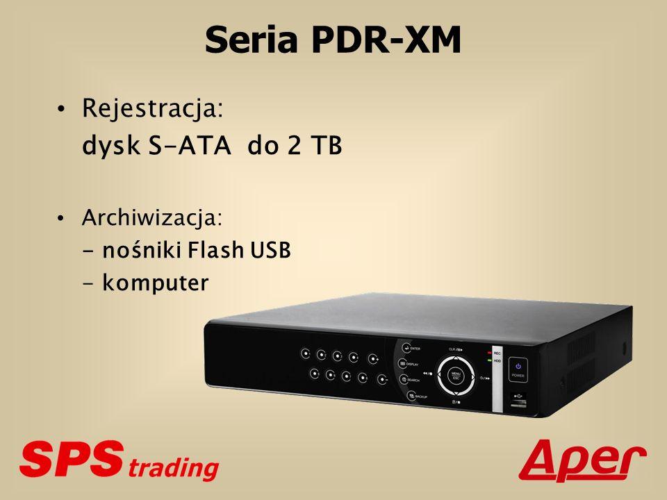 Seria PDR-XM Rejestracja: dysk S-ATA do 2 TB Archiwizacja: