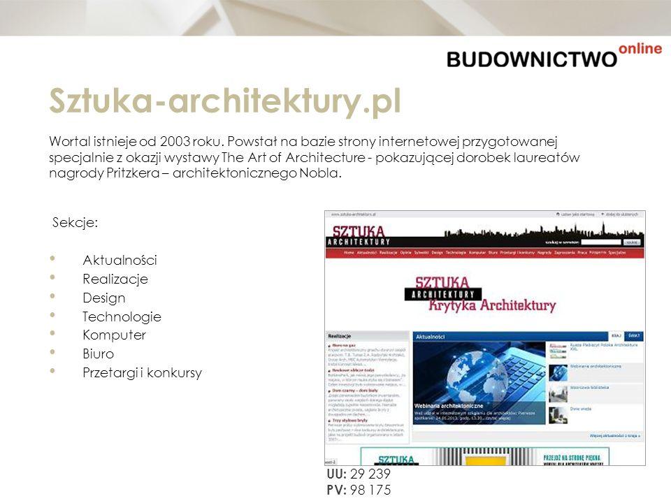 Sztuka-architektury.pl Wortal istnieje od 2003 roku. Powstał na bazie strony internetowej przygotowanej.