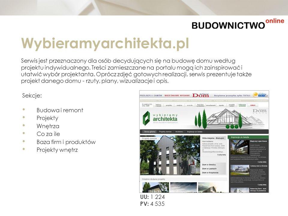 Wybieramyarchitekta.pl Serwis jest przeznaczony dla osób decydujących się na budowę domu według.