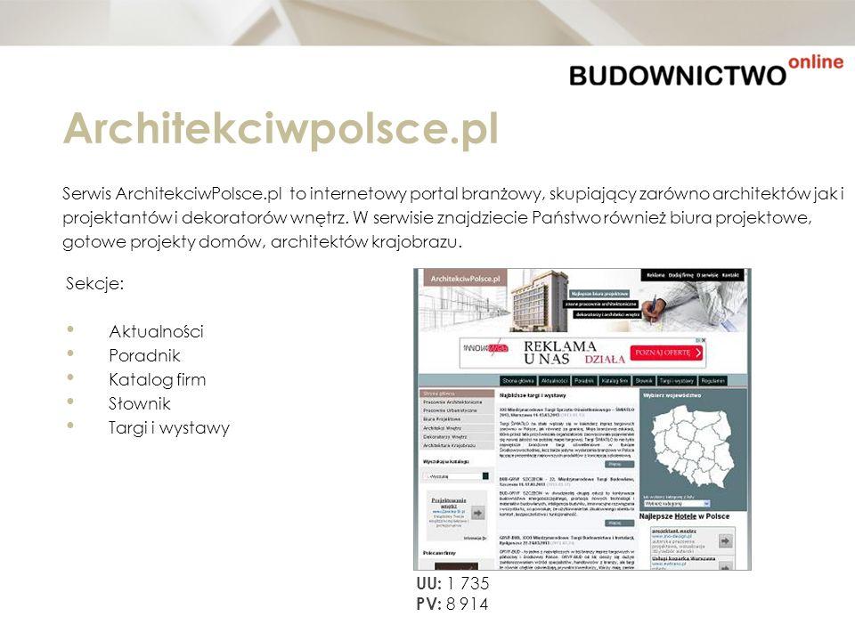 Architekciwpolsce.pl Serwis ArchitekciwPolsce.pl to internetowy portal branżowy, skupiający zarówno architektów jak i.