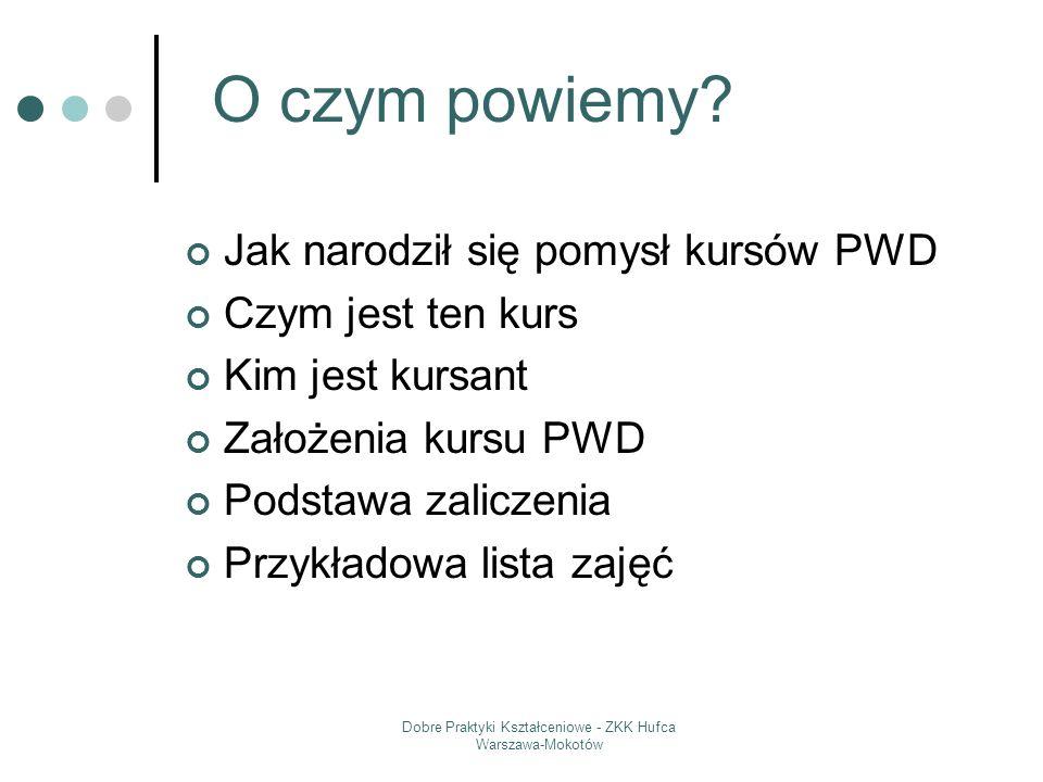 Dobre Praktyki Kształceniowe - ZKK Hufca Warszawa-Mokotów