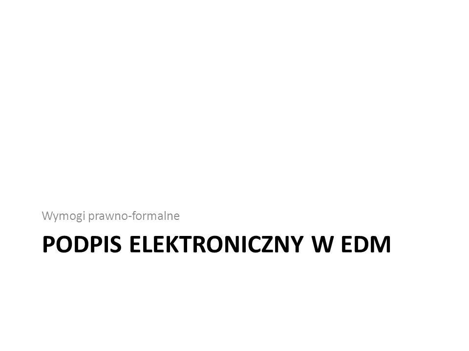 Podpis elektroniczny w EDM