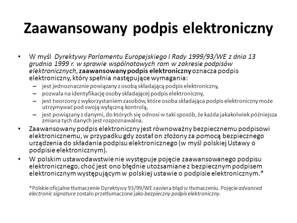 Zaawansowany podpis elektroniczny