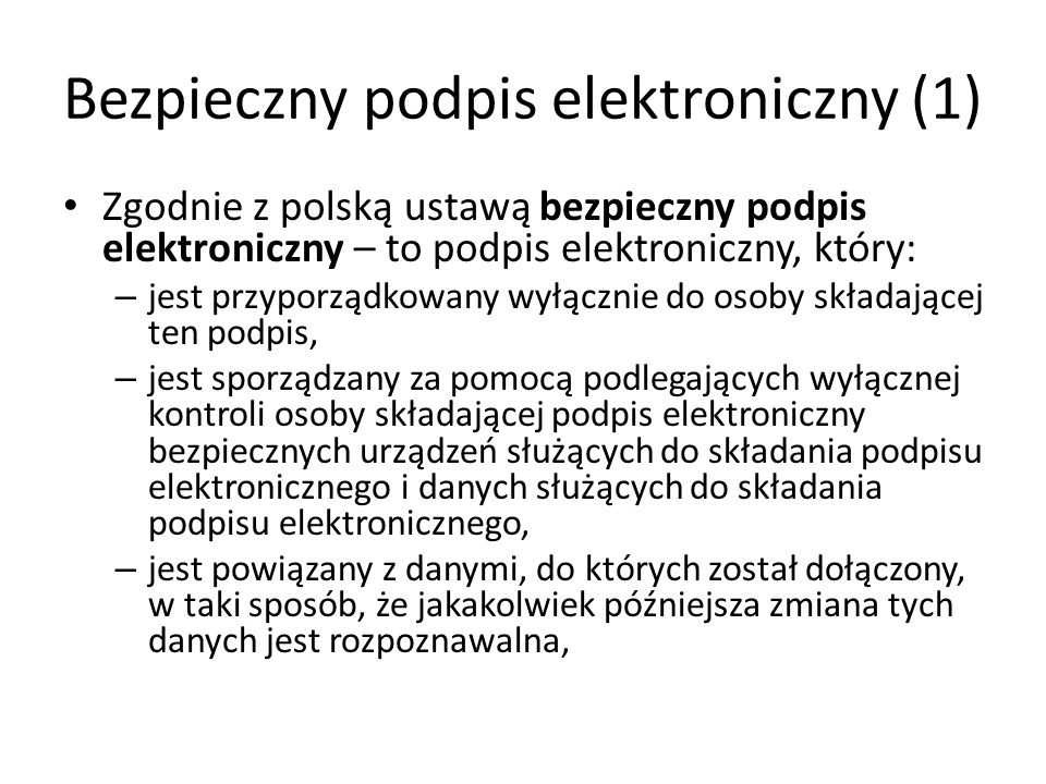 Bezpieczny podpis elektroniczny (1)