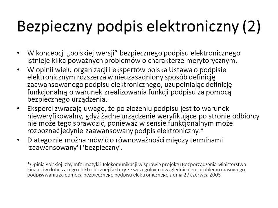 Bezpieczny podpis elektroniczny (2)