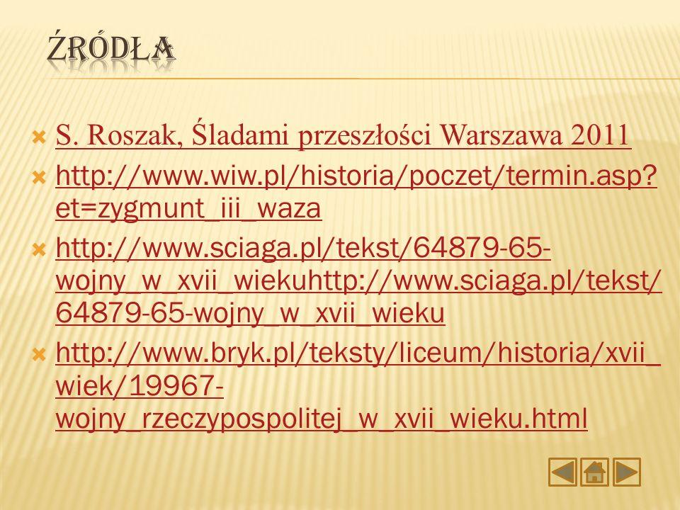 Źródła S. Roszak, Śladami przeszłości Warszawa 2011