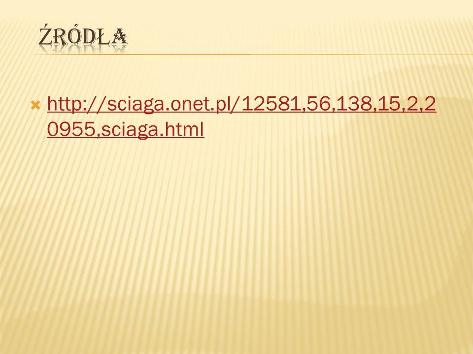 Źródła http://sciaga.onet.pl/12581,56,138,15,2,20955,sciaga.html
