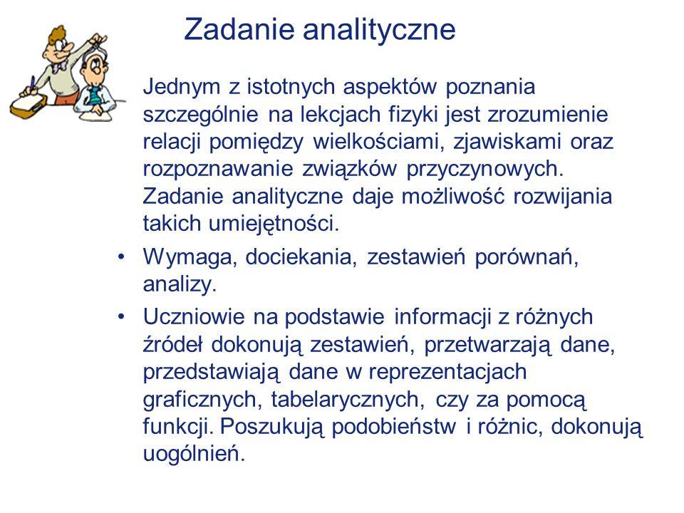 Zadanie analityczne