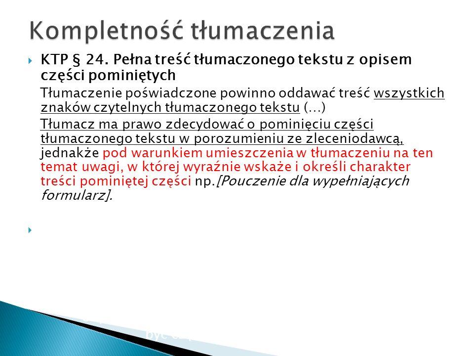 Kompletność tłumaczenia