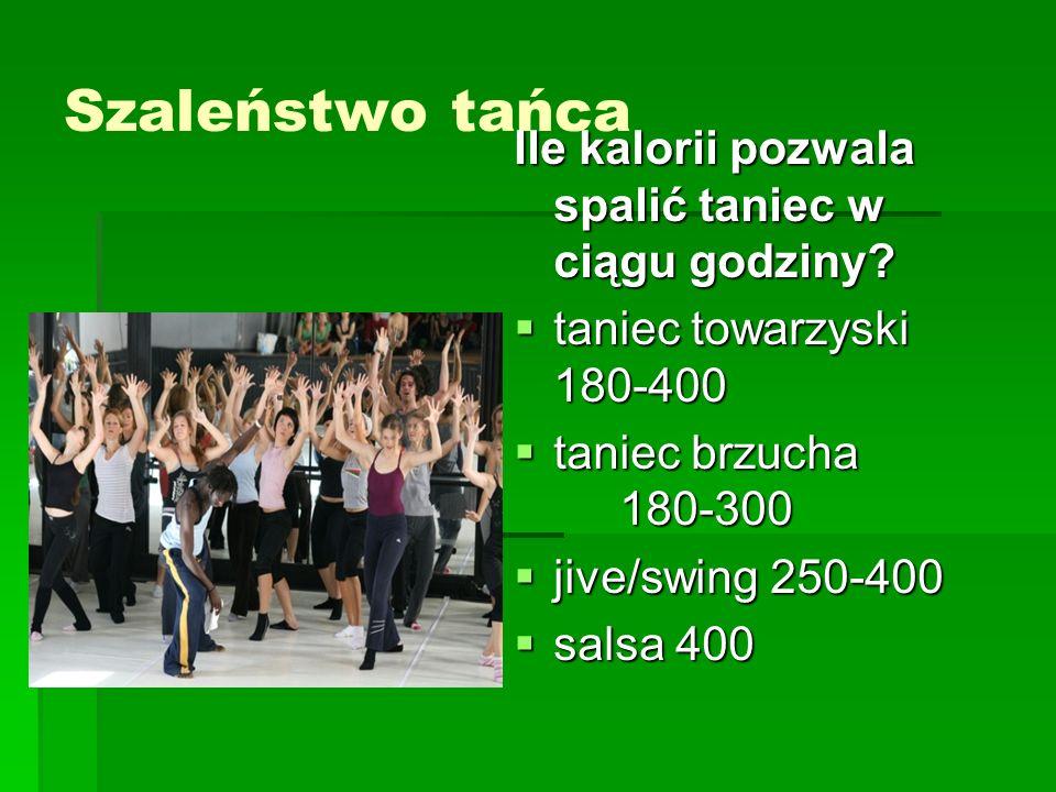 Szaleństwo tańca Ile kalorii pozwala spalić taniec w ciągu godziny