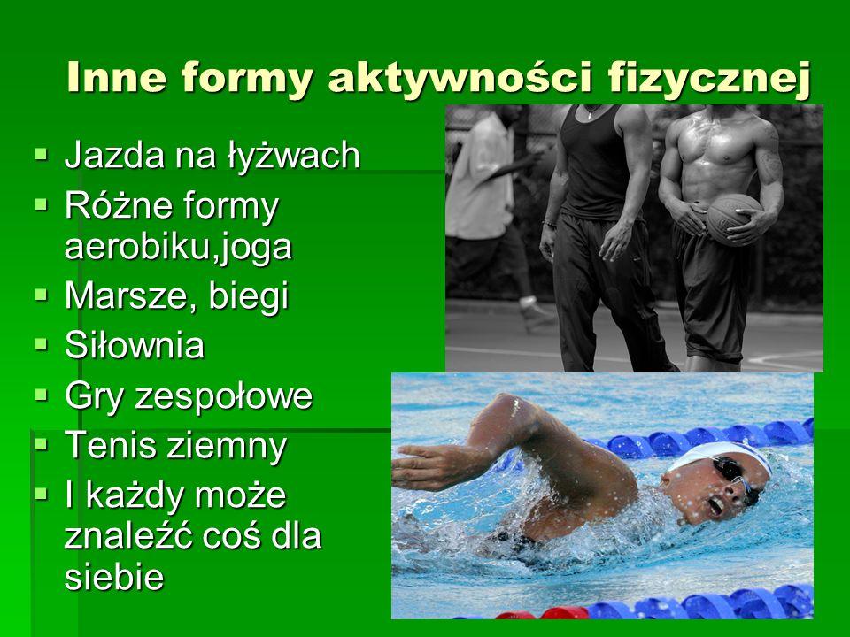Inne formy aktywności fizycznej