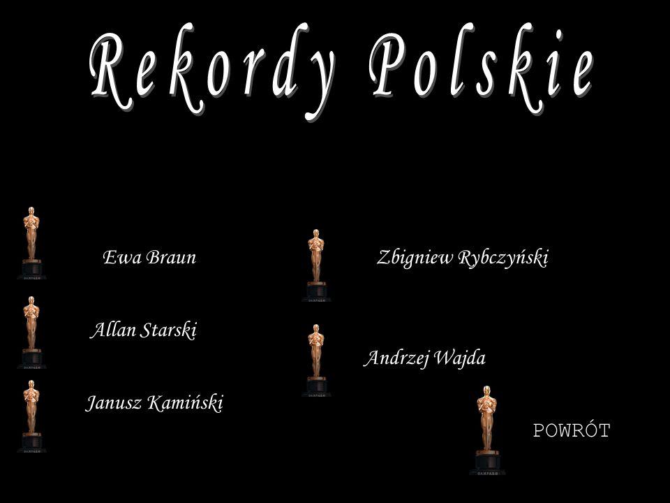 Rekordy Polskie Ewa Braun Zbigniew Rybczyński Allan Starski