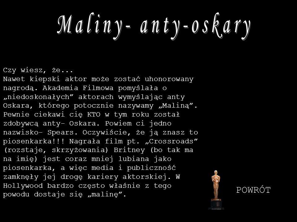 Maliny- anty-oskary POWRÓT