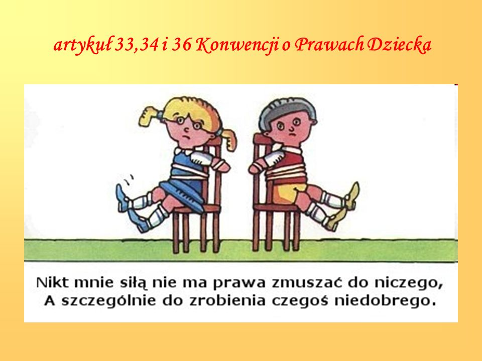 artykuł 33,34 i 36 Konwencji o Prawach Dziecka