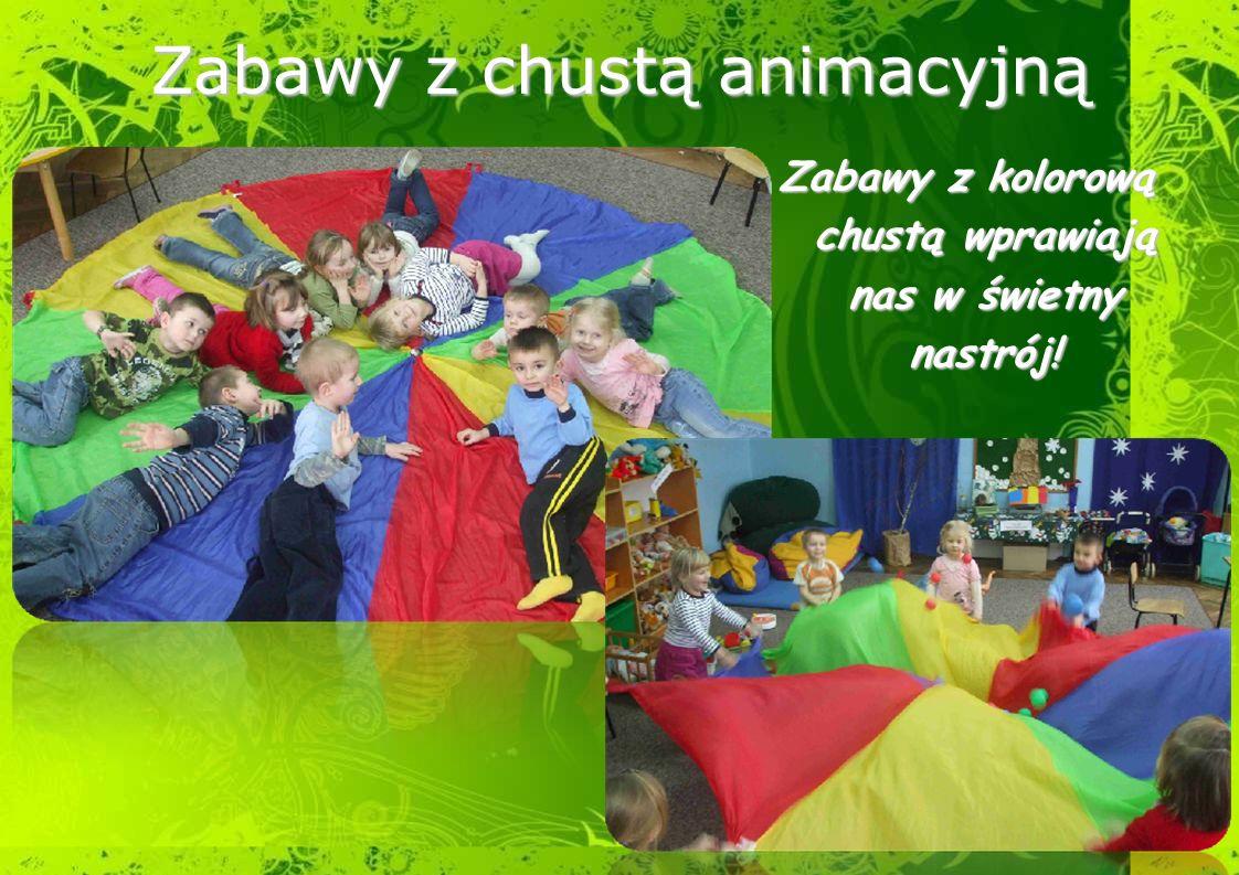 Zabawy z kolorową chustą wprawiają nas w świetny nastrój!