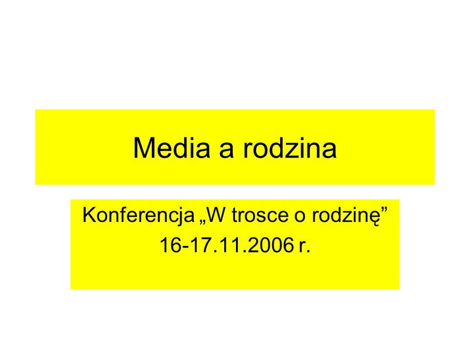 """Konferencja """"W trosce o rodzinę 16-17.11.2006 r."""