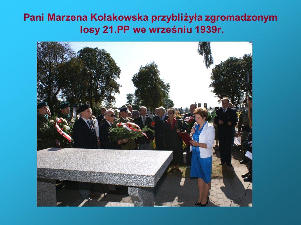 Pani Marzena Kołakowska przybliżyła zgromadzonym losy 21