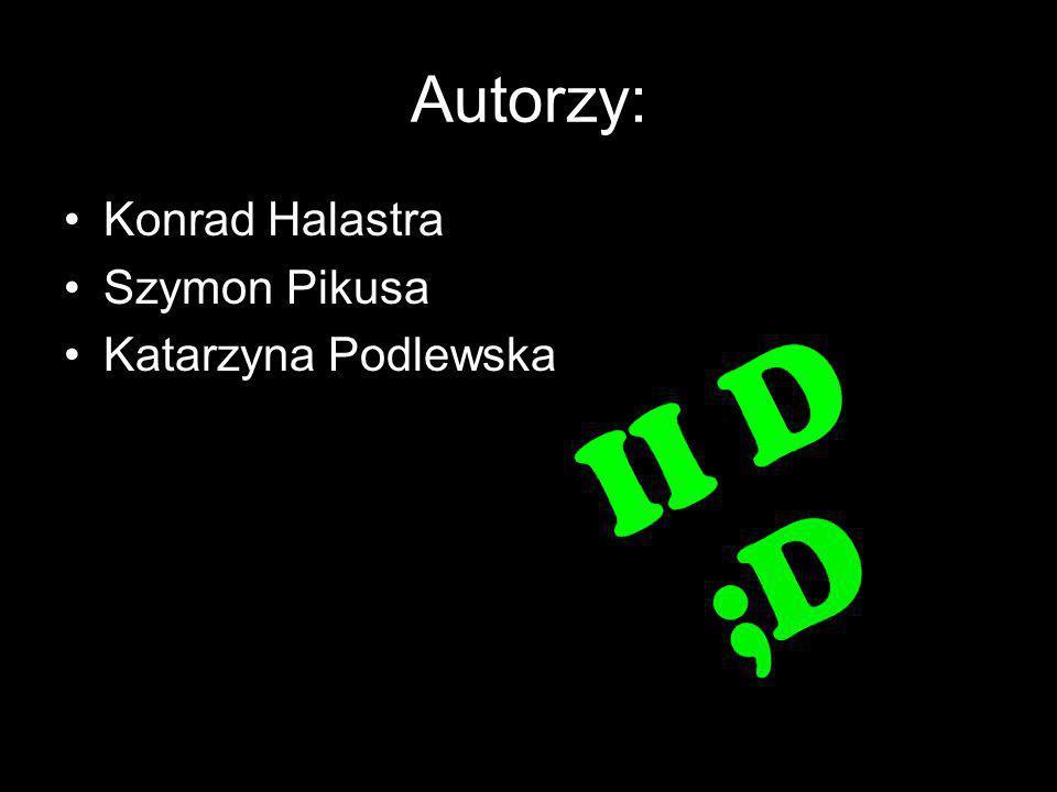 Autorzy: Konrad Halastra Szymon Pikusa Katarzyna Podlewska