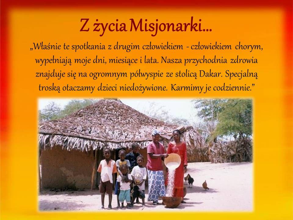Z życia Misjonarki…