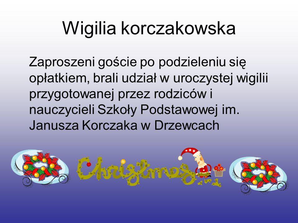 Wigilia korczakowska