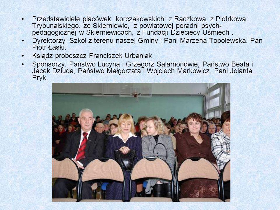 Przedstawiciele placówek korczakowskich: z Raczkowa, z Piotrkowa Trybunalskiego, ze Skierniewic, z powiatowej poradni psych- pedagogicznej w Skierniewicach, z Fundacji Dziecięcy Uśmiech .
