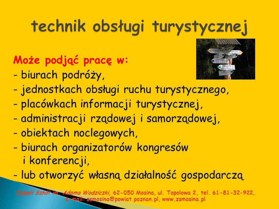 - jednostkach obsługi ruchu turystycznego,