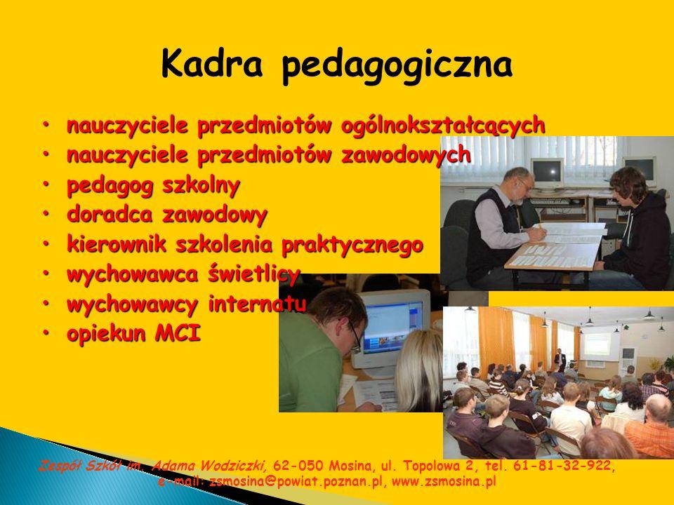 Kadra pedagogiczna nauczyciele przedmiotów ogólnokształcących