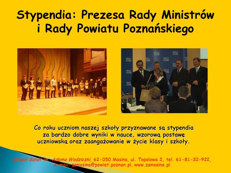 Stypendia: Prezesa Rady Ministrów i Rady Powiatu Poznańskiego