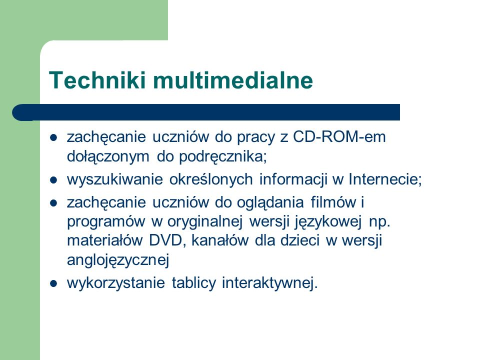 Techniki multimedialne